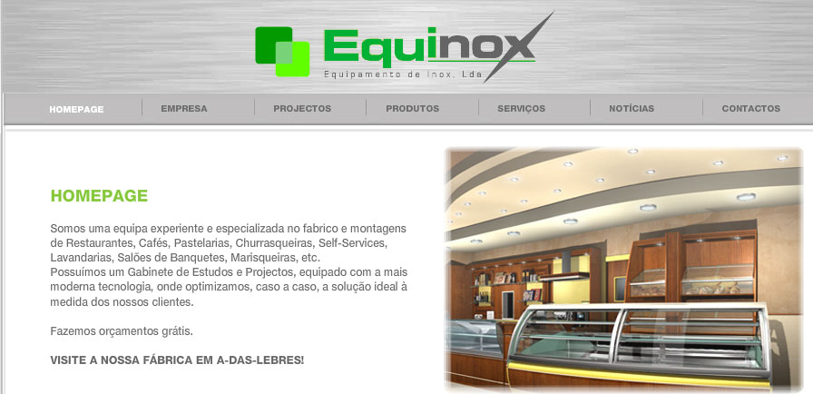 SANTO ANTÃO DO TOJAL Santo Antão do Tojal (Loures) - Business - Commercial Distribution - Equinox-Equipamento de Inox Lda - ID 28249