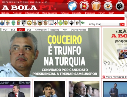 News - Newspapers - A Bola PT noticias Nacional e Internacional - ID 69714